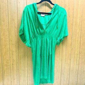 Juicy Couture Hooded Shirred Dolman Dress